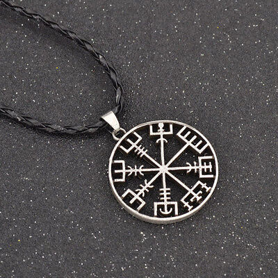 Viking Odin's Symbol of Norse Runic Pendant Necklace Runes Vegvisir Compass