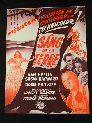 dossier presse original Le sang de la terre Marshall press kit 1948