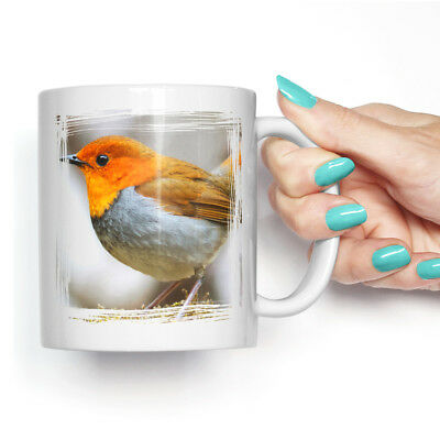 Coffee Mug Tea Cup Ceramic Robin Bird (3) Animal