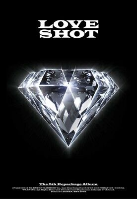 EXO [LOVE SHOT] 5th Repackage Album LOVE CD+POSTER+Foto Buch+Foto Karte SEALED