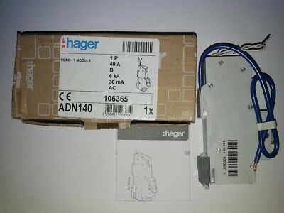 Hager Rcbo Type B Various Amps