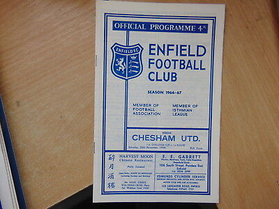 FA Cup 1966/7 Enfield v Chesham United First Round Proper