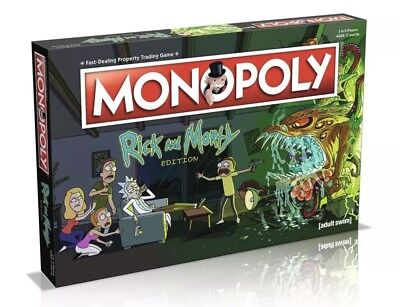 Rick And Morty Edition Monopoly Board Game Brand New Gift