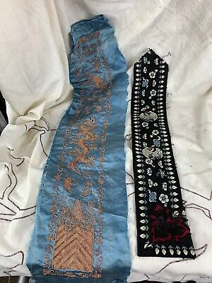 Two Antique Chinese Silk Embrodiary
