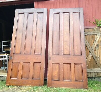 Huge Pair Two Gorgeous Antique Chestnut Pocket Doors from Old Church