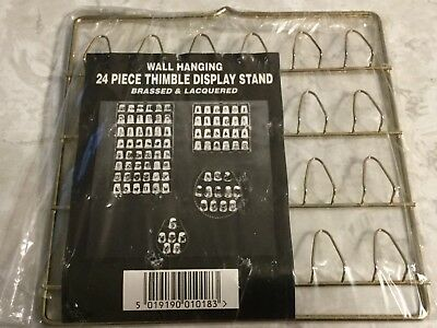 JES Co 24 Piece Wall Hanging Thimble Display Brassed