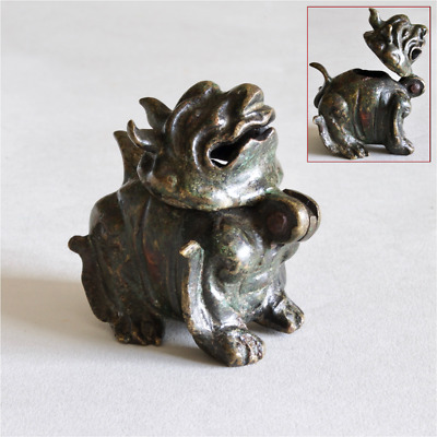Chinese Antique VERY RARE bronze Luduan form Incense Burner Censer, MING DYNASTY