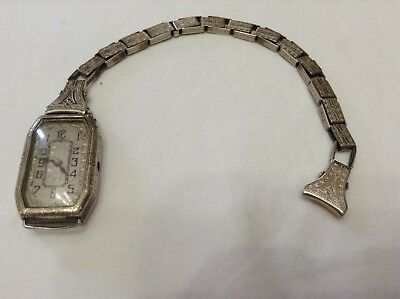 Antique Vintage Sturdy Maid Art Deco Band with Watch 12K gold early 1900's