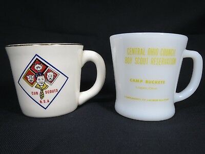 "Vintage Boy Scouts Mug B.S.A. BSA + ""This mug belongs to"" Fireking Camp Buckeye"