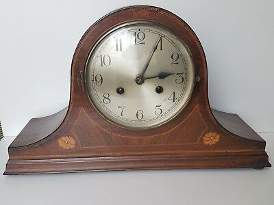 Vintage Napoleon Hat Clock w/ Key & Pendulum - Mechanism Won't Turn