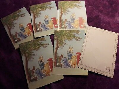 Winnie the Pooh -EH Shepard postcards notecards -Set of 6 Christopher Robin NEW