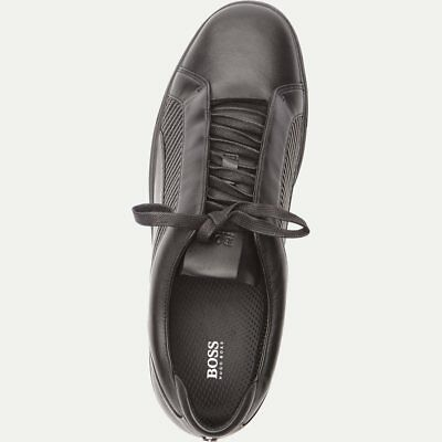 6486cf8b2c6 New Hugo Boss Mercedes F1 Black Leather Boots Shoes Trainers Sneakers 7 41  £260