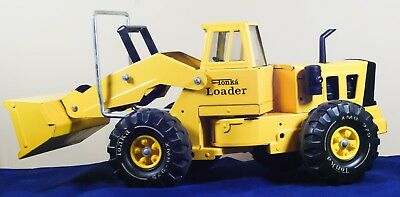 VINTAGE MIGHTY TONKA LOADER  1974-75 Yellow Pressed Steel XMB 975
