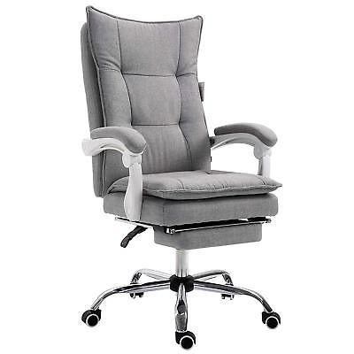CTF Executive Double-Layer Padding Recline Desk Chair Office Chair /w Footrest