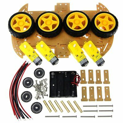 Smart Car Kit with Speed Encoder 4WD Smart Robot Car Chassis Kits Diy Kit WR