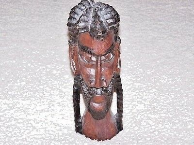 Estate: Old Kenya Tribal Figurine Bust - Hand Crafted/carved - Beautiful Art