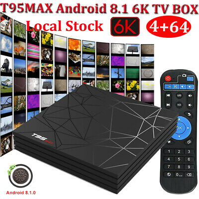 4+64G Android 9.0 Pie Smart TV BOX MX10 Quad Core RK3328 64bit USB 3.0 HDR10 4K