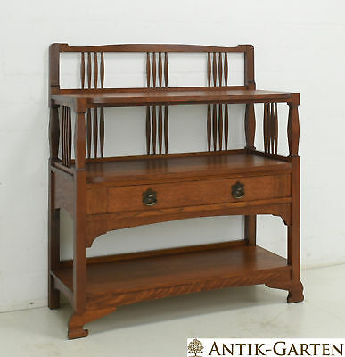 ANTIK! Sideboard restauriert Jugendstil Regal Anrichte Eiche massiv Kommode