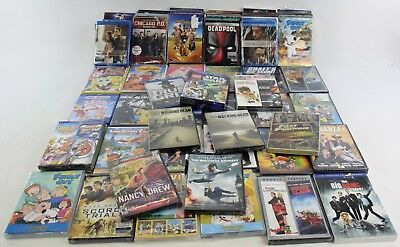 Lot of 68 Various DVD Discs Movies New in Damaged Boxes