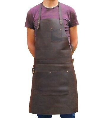 Professional Leather Apron for Butchers Chefs Carpenters Blacksmiths Tattooists
