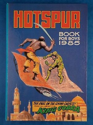 Vintage Children's Annual HOTSPUR Book For Boys 1985 King Cobra