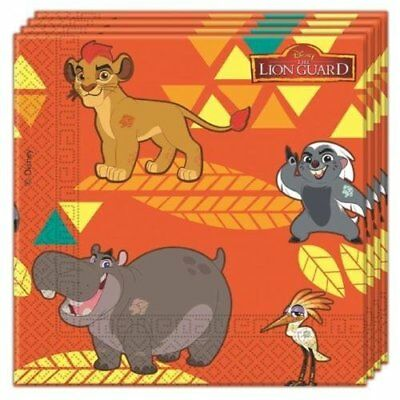 Disney The Lion Guard King 20x Paper Napkins Kids Birthday Party Tableware 23cm