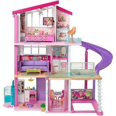 MODERN PINK BARBIE Doll Dream House Play Home Room Girls Toy House