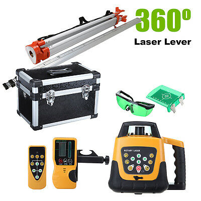 Auto Green Self-Leveling Horizontal Vertical Laser Level w/ Tripod Staff Case