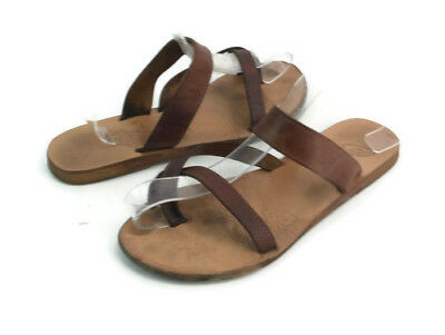 59d7a42caa84e3 Ancient Greek Sandals Women s Brown Leather Strappy Toe Ring Sandals EU  Size 36