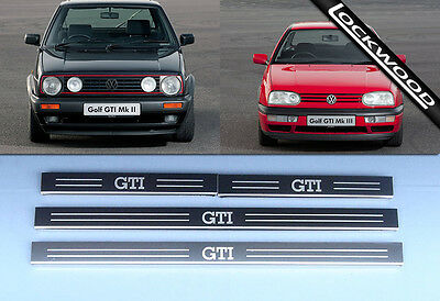 VW Golf (Mk2 & Mk3) GTi, 4 Door Stainless Steel Sill Protectors / Kick plates