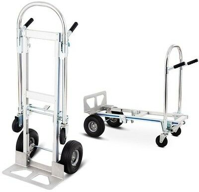80bae7d9345 Costway 2in1 Aluminum Hand Truck Convertible Folding Dolly Platform Cart  770LBS