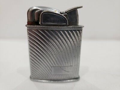 Vintage Working Evans Silver Tone  Lighter / USA Made