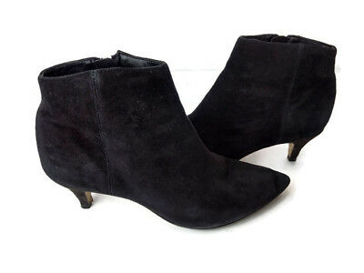 fc4ddfd09d26 Sam Edelman Kinzey Women s Black Suede Zip Up Pointed Toe Ankle Booties Size  ...