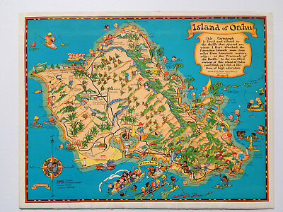 72nd Bombardment Squadron Hickam Field Hawaii Pictorial Map Booklet (Dec 25 1941