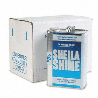 Sheila Shine Stainless Steel Cleaner and Polish - Gallon Can (Pack Of 4) IL