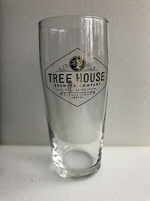 TREE HOUSE BREWING NEW LOGO GOLD WILLI PINT BEER GLASS monkish trillium answer -