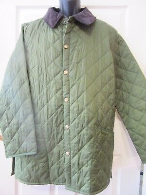 *mint* Barbour Liddesdale Jacket Men's Quilted Olive Green~Medium