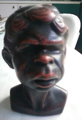 Alexander Takacs Aboriginal Boy Sculpture Black/Red