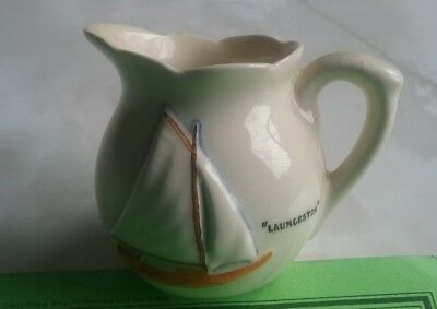 ROSE NOBLE JUG EMBOSSED Yacht souvenir Launceston