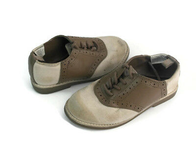 Gymboree Toddler Boy s Grey  Brown Suede Lace Up Round Toe Oxfords Shoes  Size 9 52e57743b