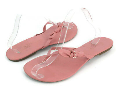 2b553c4be274 Talbots Women s Pink Leather Slip On Thong Flip Flop Sandals Size US 10
