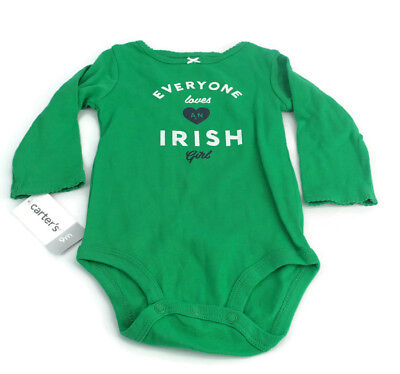 43b1bac63bf0 Carter s Baby Girl s Green Long Sleeve Romper Body Suit Jumper ...