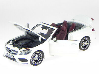 MERCEDES Benz A 205 C Classe cabriolet con Softtop BIANCO 1:18 NUOVO OVP