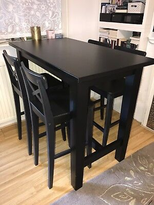 Ikea Stornas Bar Table 4 X Ingolf Chairs Excellent Condition 460