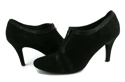 d2cd12c7688c Impo Women s Black Suede Ankle Boots Stiletto Zipered Heel Size US 10.5 M
