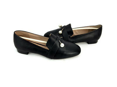 603f156136c Sole Society Caspar Women s Black Sheep Leather Slip On Moccasin Loafers  Size 6