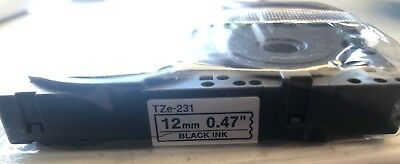 Compatible Label Maker Tape 12mm TZ-231 TZe-231 for Brother P-Touch PT-H100