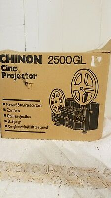 CHINON 2500GL DUAL 8 Super 8 / Reg 8mm PROJECTOR ADJUSTABLE SPEED (MINT)
