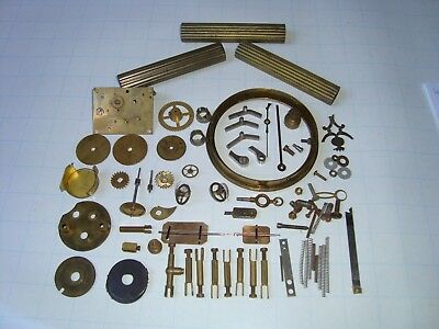 Antique clock parts - various.