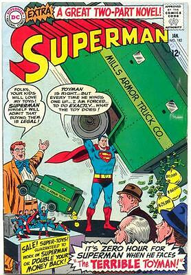 Superman #182 Vol 1 (1966) VG  1st Silver Age Appearance of Toy Man